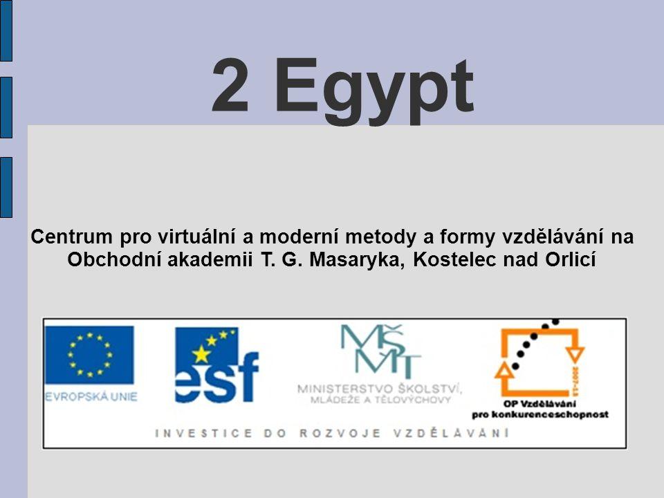 2 Egypt Centrum pro virtuální a moderní metody a formy vzdělávání na