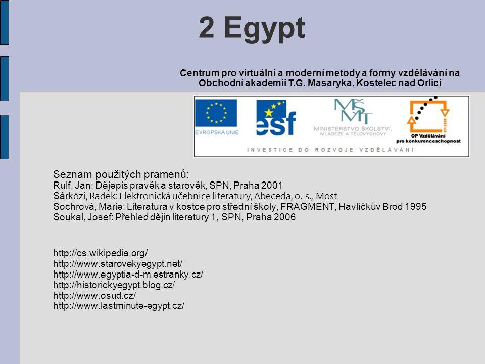2 Egypt Seznam použitých pramenů: