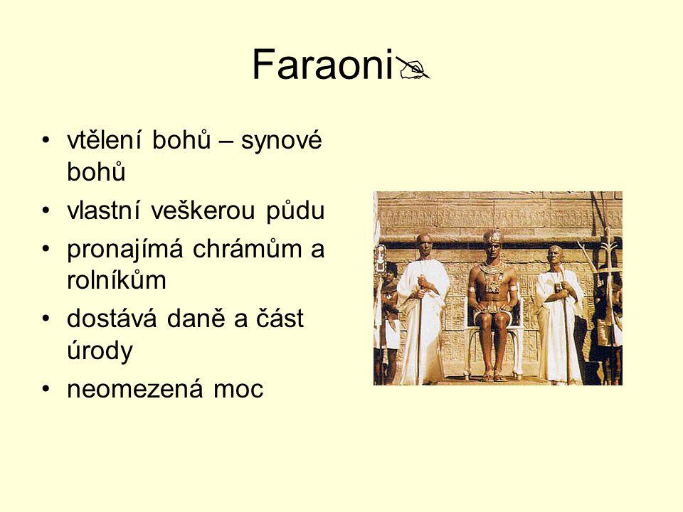 Faraoni vtělení bohů – synové bohů vlastní veškerou půdu
