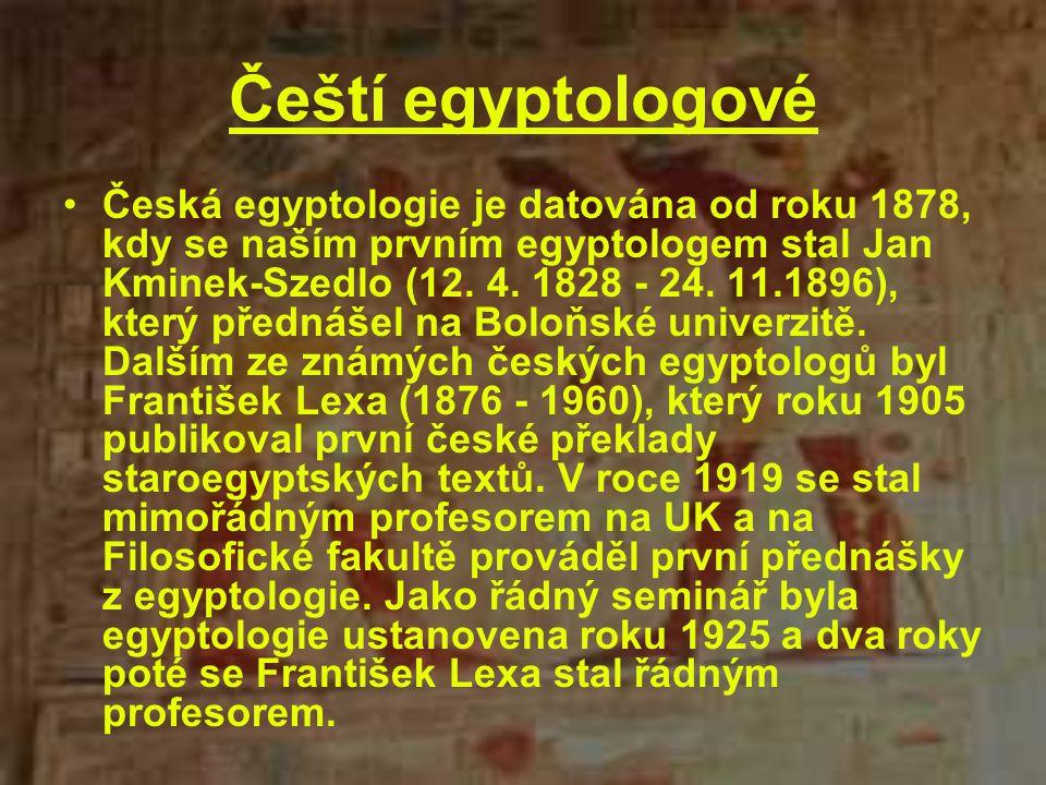 Čeští egyptologové