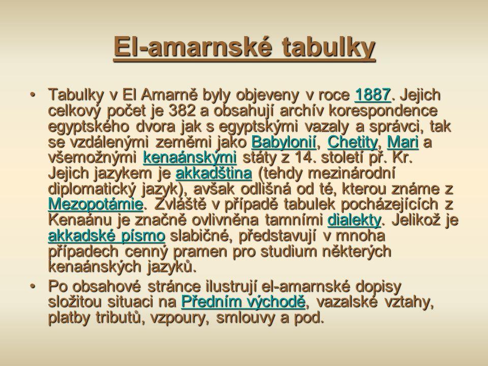 El-amarnské tabulky