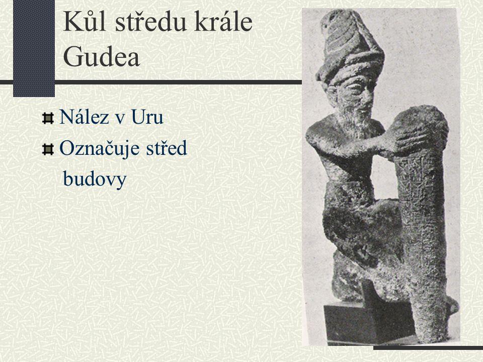 Kůl středu krále Gudea Nález v Uru Označuje střed budovy