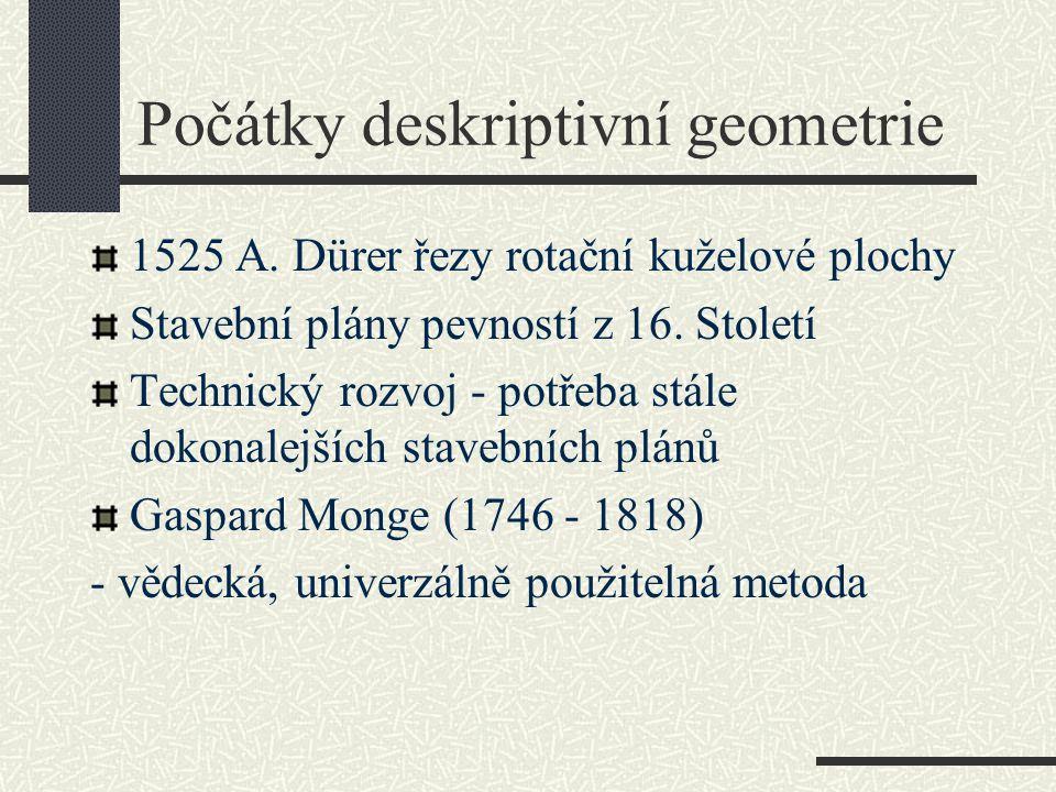 Počátky deskriptivní geometrie