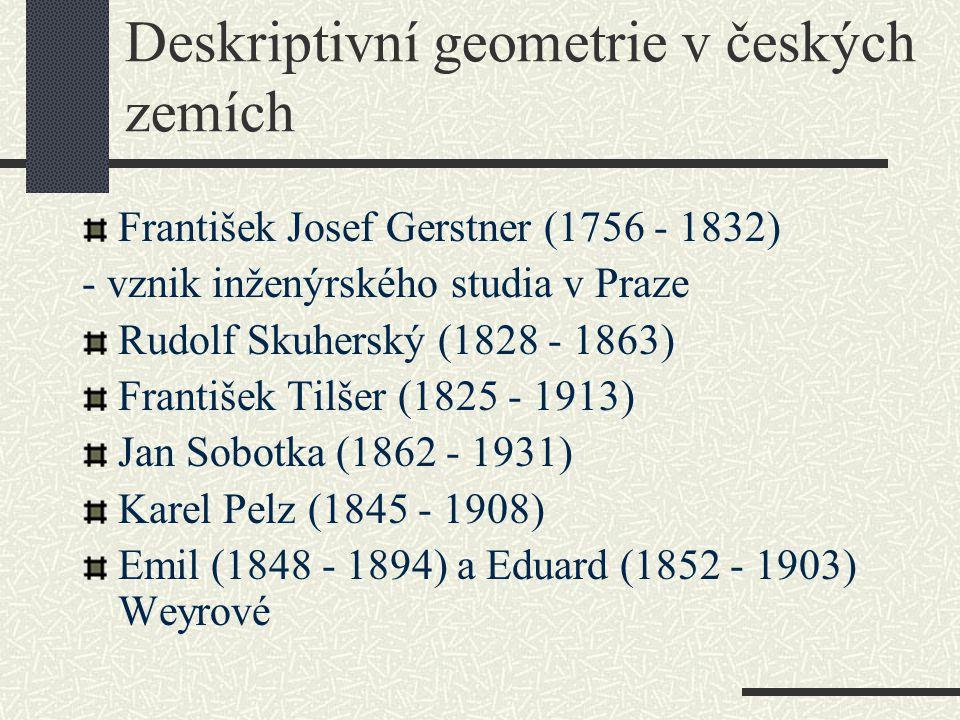 Deskriptivní geometrie v českých zemích