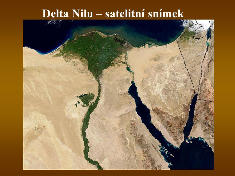 Delta Nilu – satelitní snímek