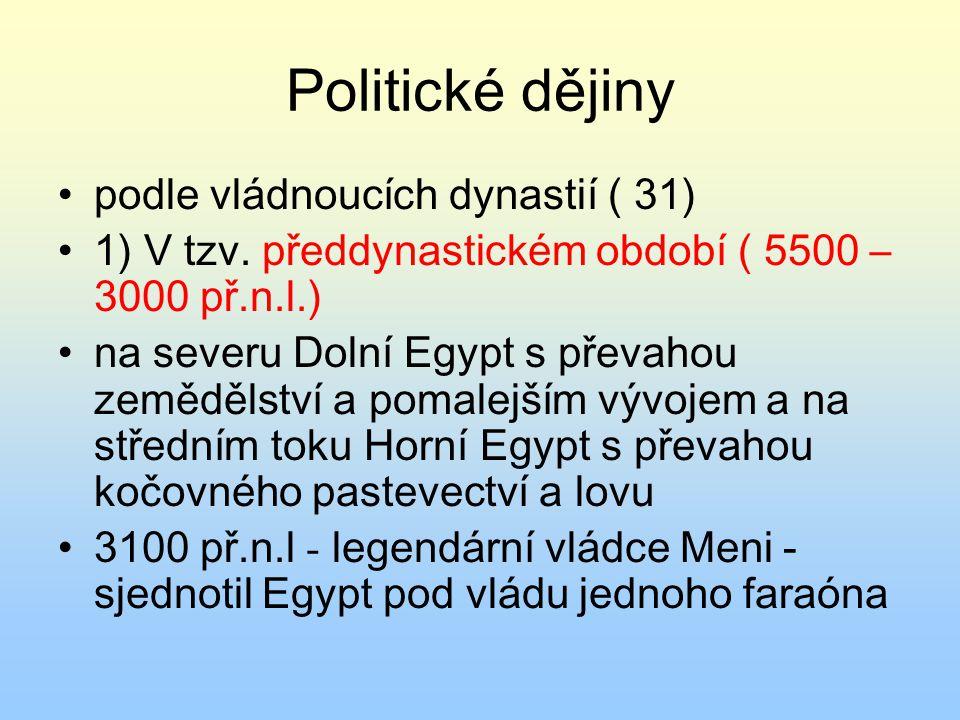 Politické dějiny podle vládnoucích dynastií ( 31)