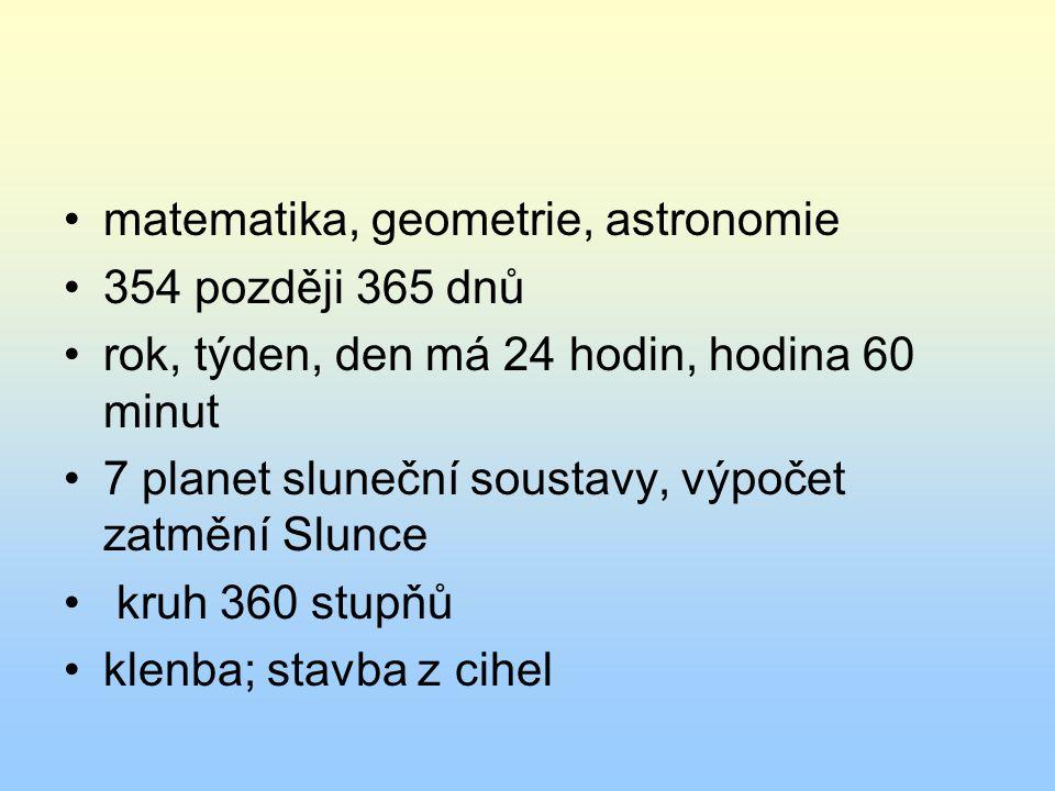 matematika, geometrie, astronomie
