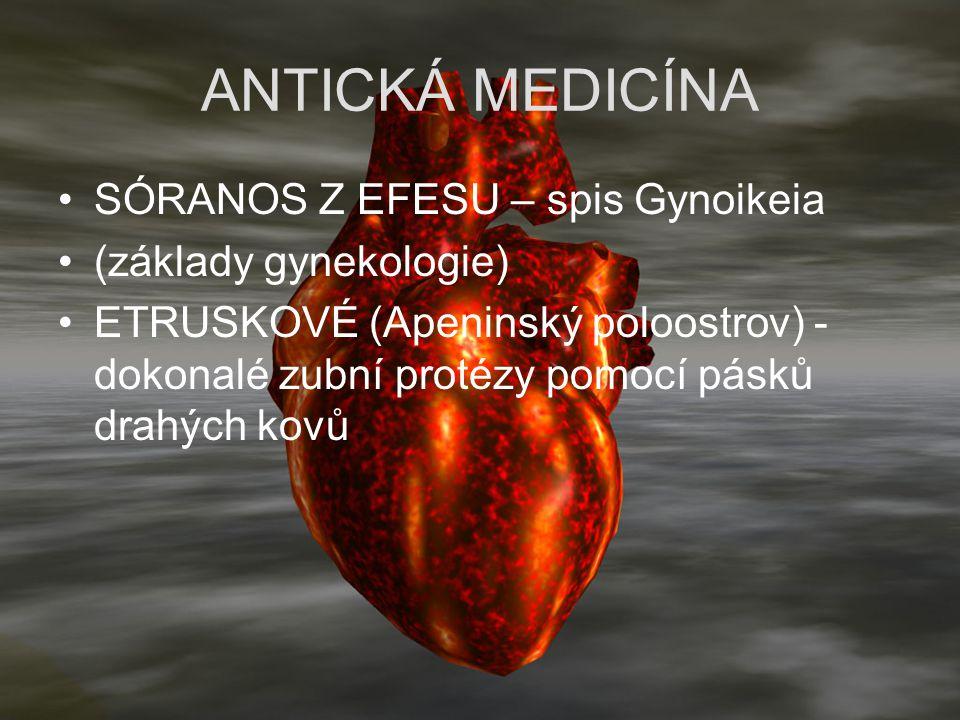 ANTICKÁ MEDICÍNA SÓRANOS Z EFESU – spis Gynoikeia