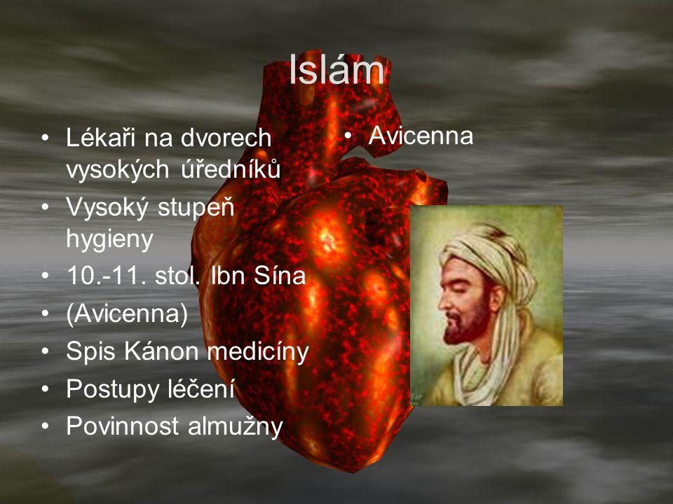 Islám Avicenna Lékaři na dvorech vysokých úředníků