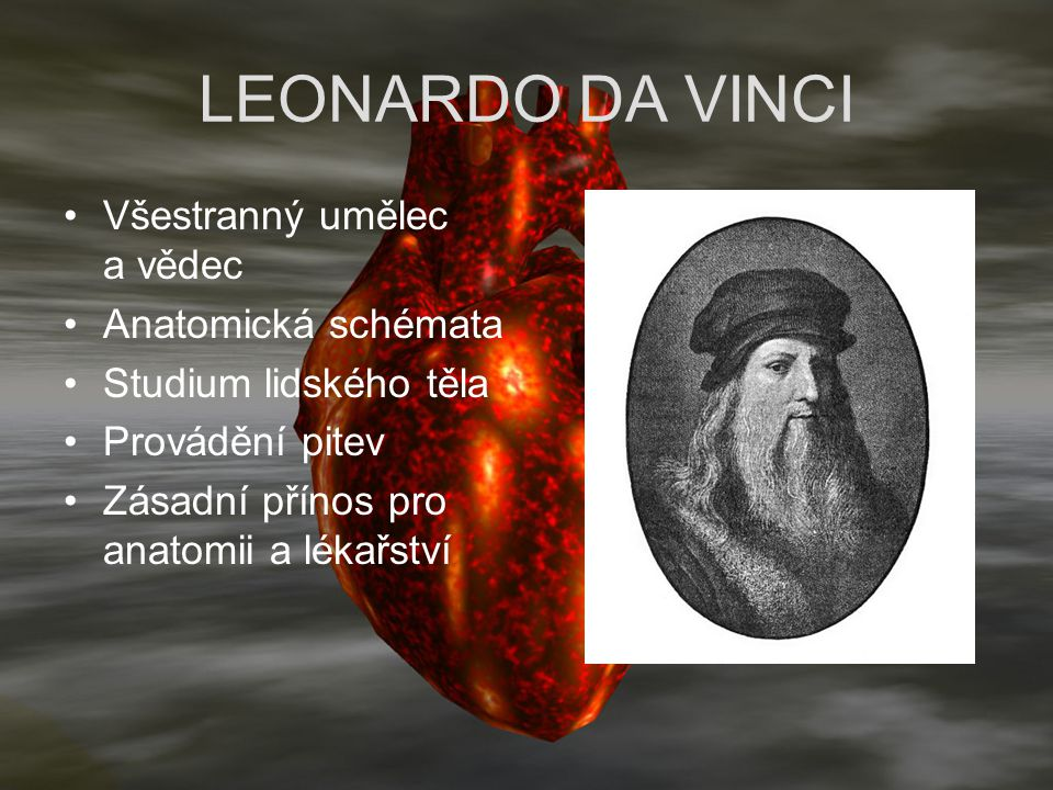 LEONARDO DA VINCI Všestranný umělec a vědec Anatomická schémata