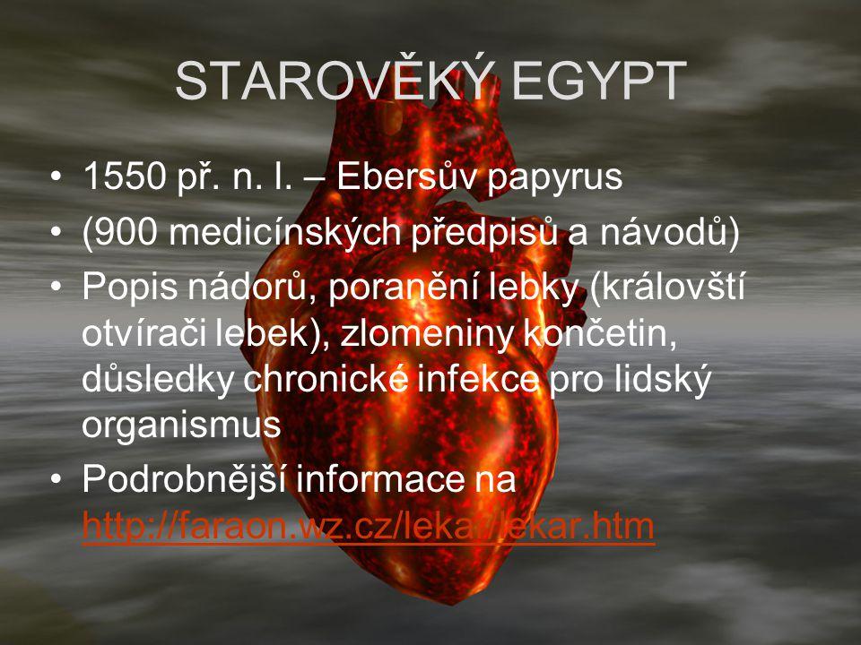 STAROVĚKÝ EGYPT 1550 př. n. l. – Ebersův papyrus