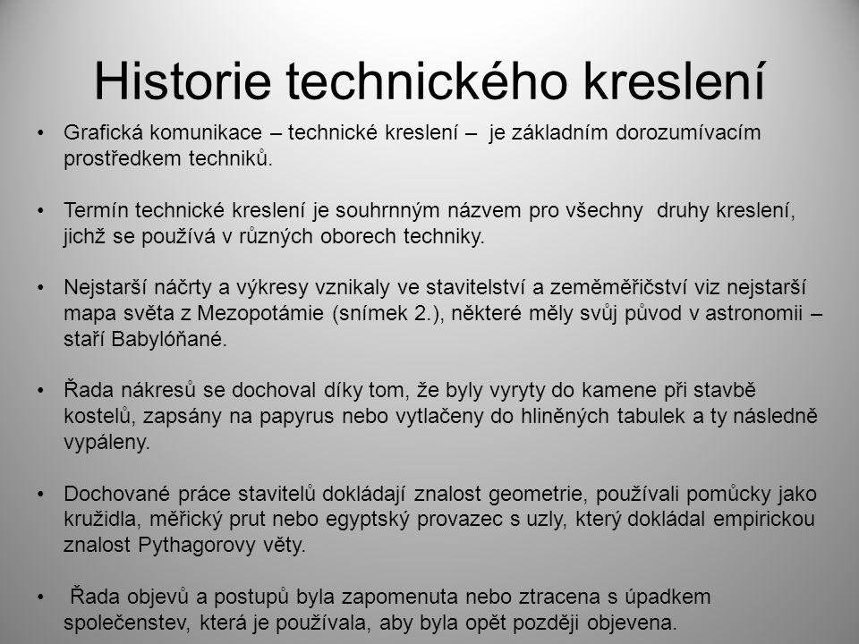 Historie technického kreslení