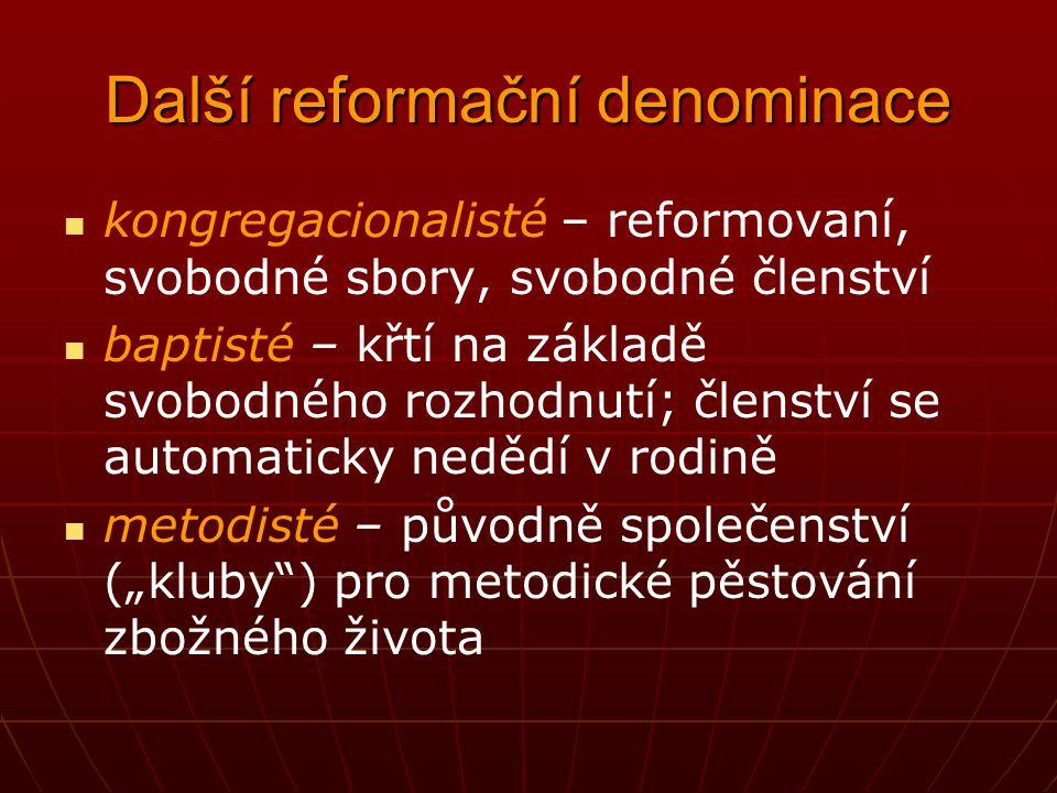 Další reformační denominace