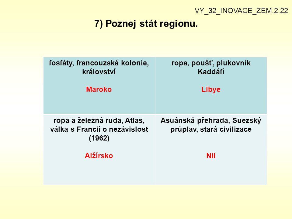7) Poznej stát regionu. VY_32_INOVACE_ZEM.2.22