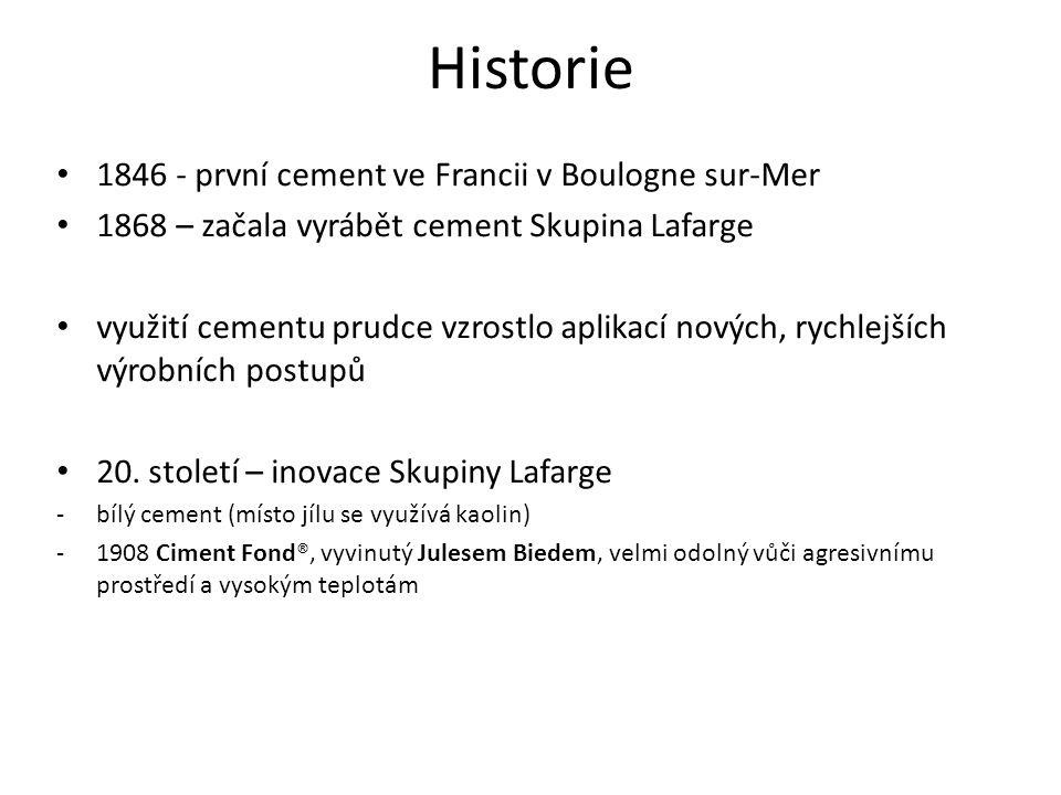 Historie 1846 - první cement ve Francii v Boulogne sur-Mer