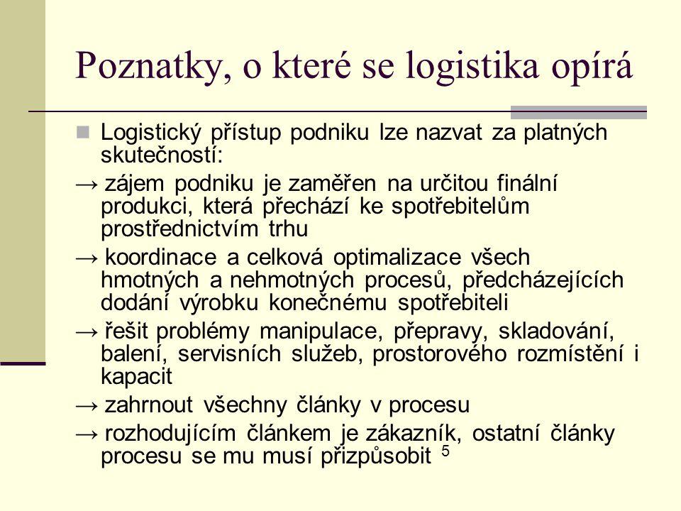 Poznatky, o které se logistika opírá