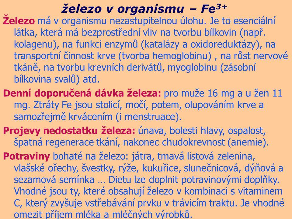 železo v organismu – Fe3+