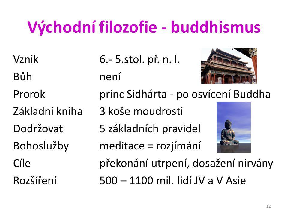 Východní filozofie - buddhismus