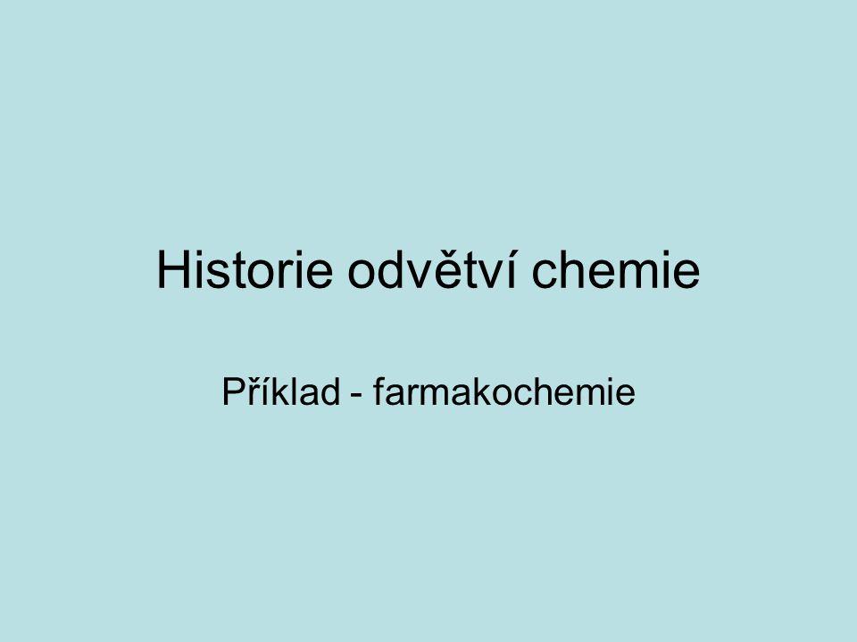 Historie odvětví chemie