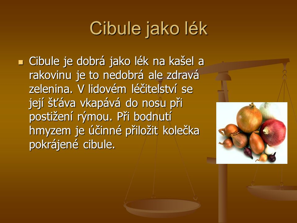 Cibule jako lék