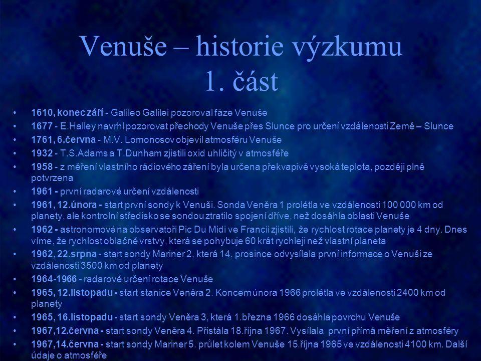 Venuše – historie výzkumu 1. část