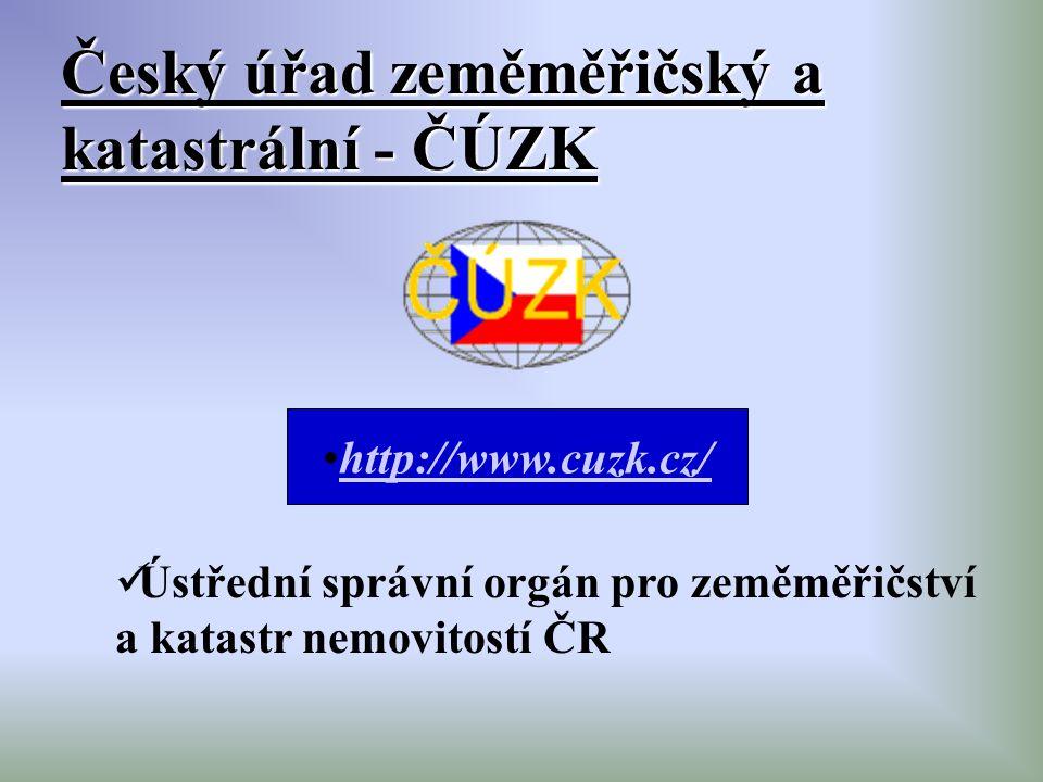 Český úřad zeměměřičský a katastrální - ČÚZK