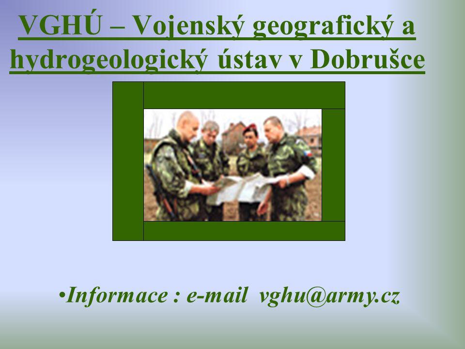 VGHÚ – Vojenský geografický a hydrogeologický ústav v Dobrušce