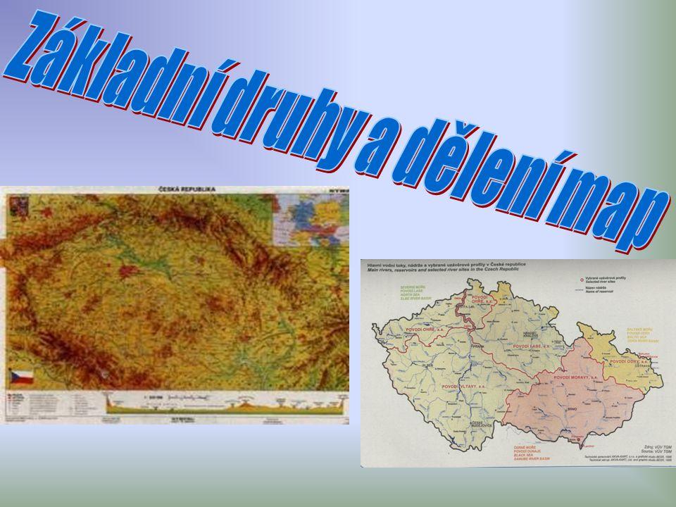 Základní druhy a dělení map