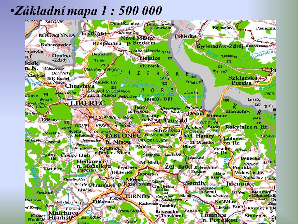 Základní mapa 1 : 500 000