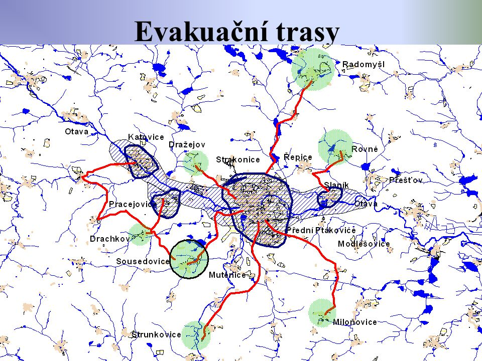 Evakuační trasy