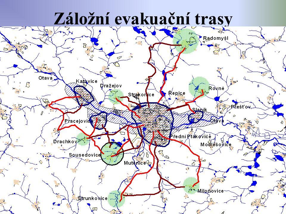 Záložní evakuační trasy