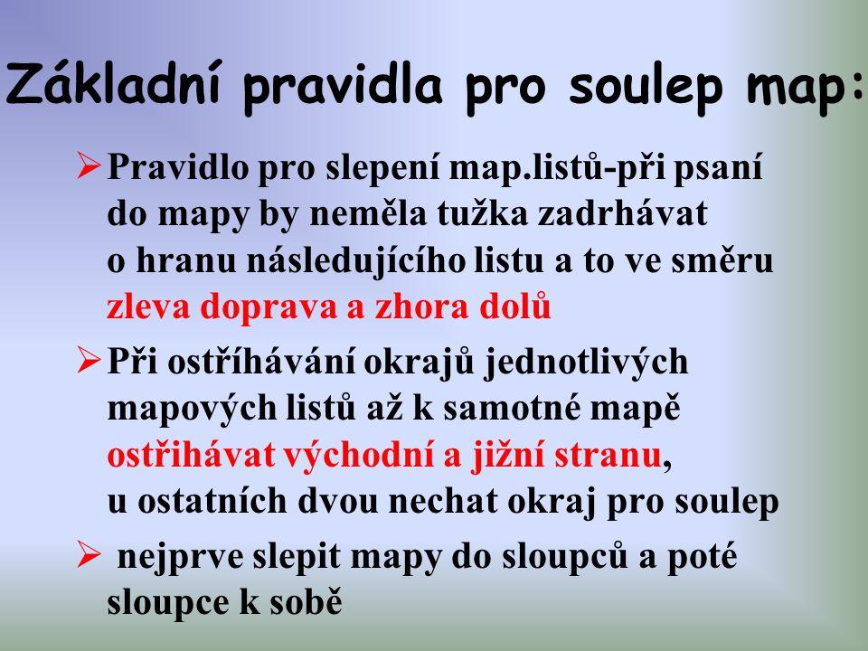Základní pravidla pro soulep map: