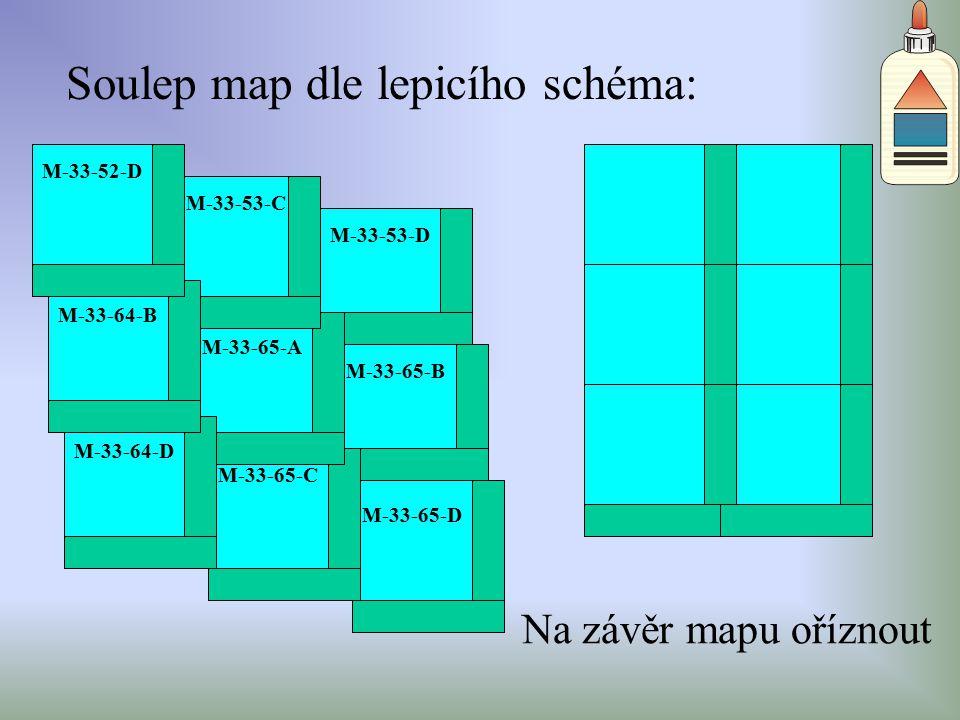 Soulep map dle lepicího schéma: