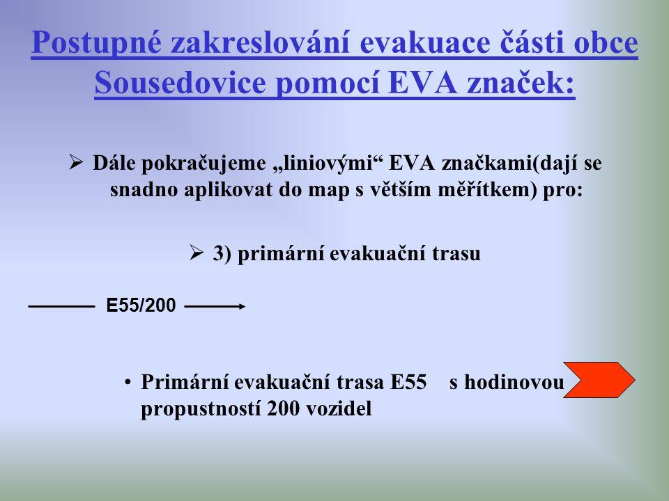 3) primární evakuační trasu