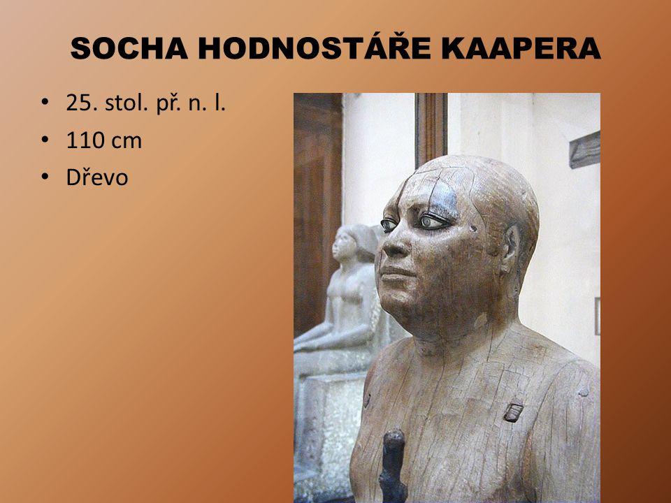 SOCHA HODNOSTÁŘE KAAPERA