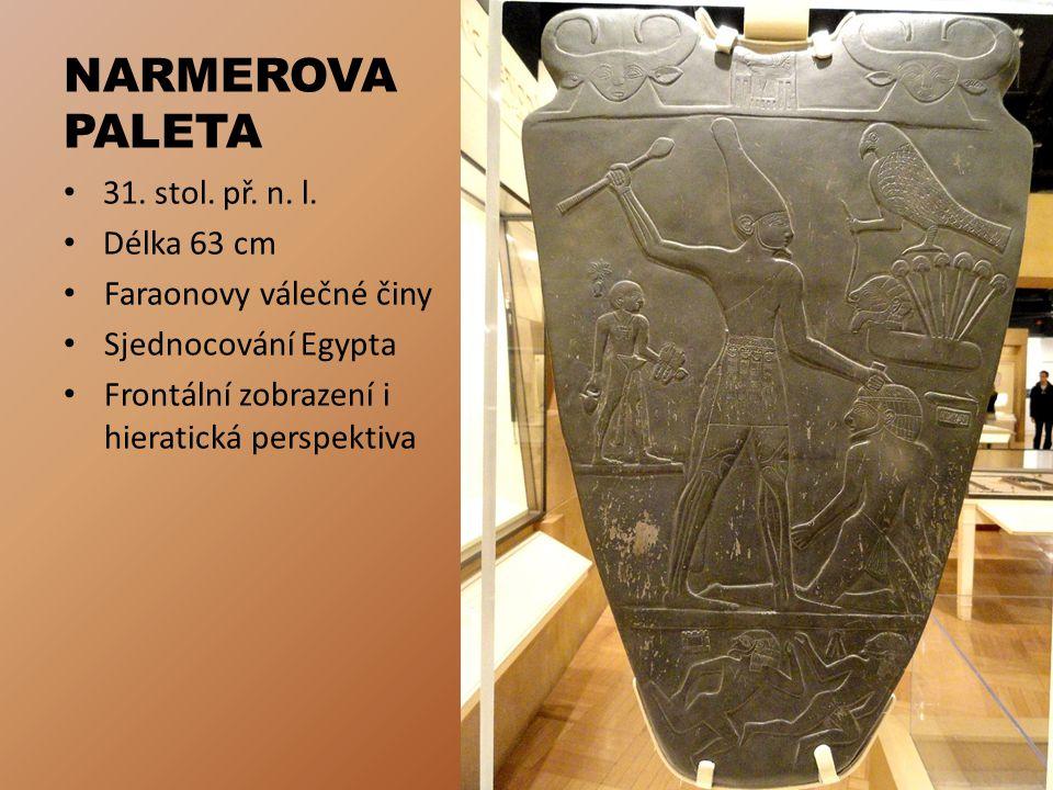 NARMEROVA PALETA 31. stol. př. n. l. Délka 63 cm