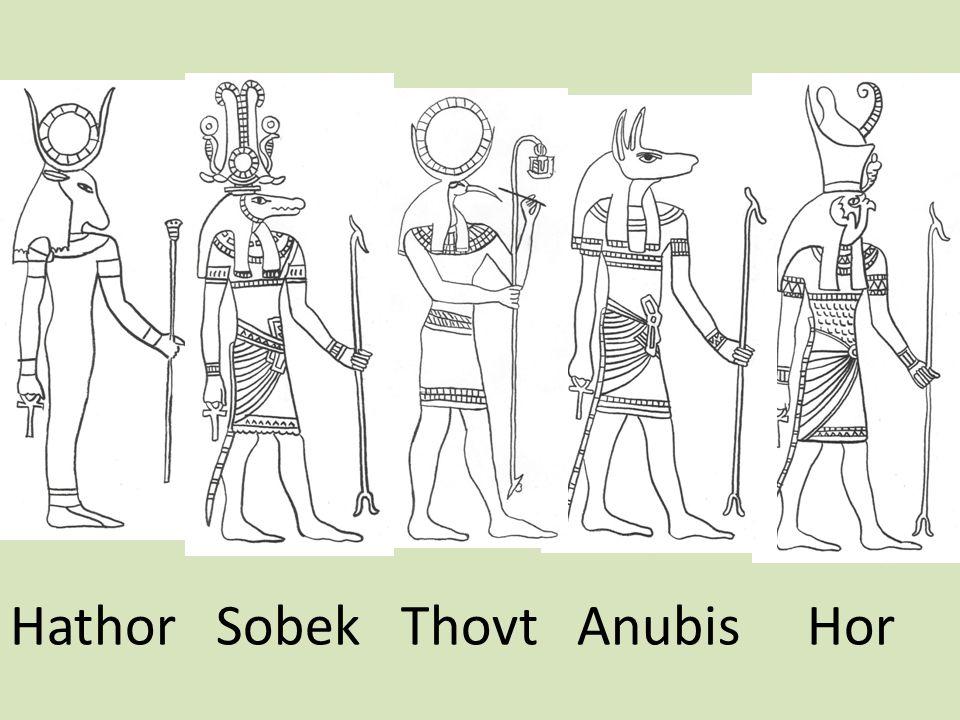 Hathor Sobek Thovt Anubis Hor