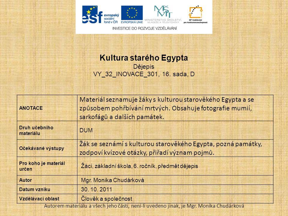 Kultura starého Egypta