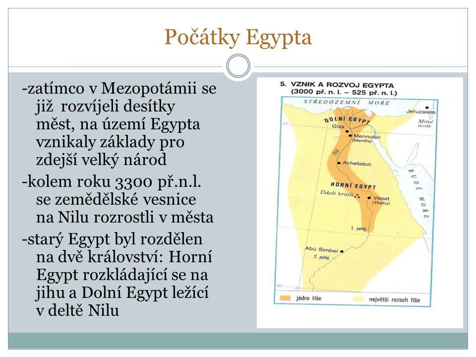Počátky Egypta
