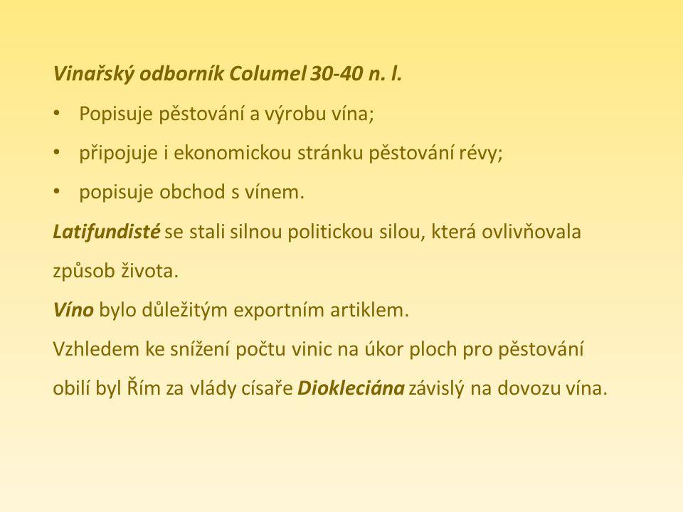 Vinařský odborník Columel 30-40 n. l.