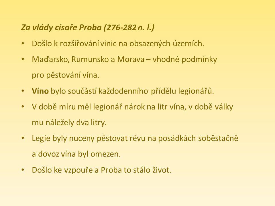 Za vlády císaře Proba (276-282 n. l.)