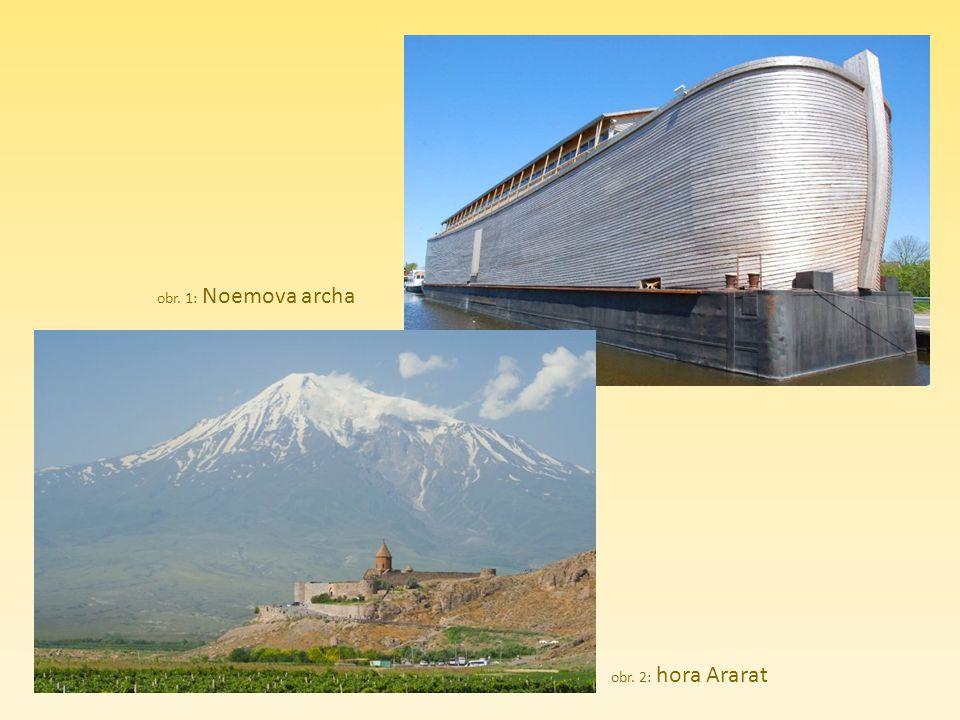 obr. 1: Noemova archa obr. 2: hora Ararat