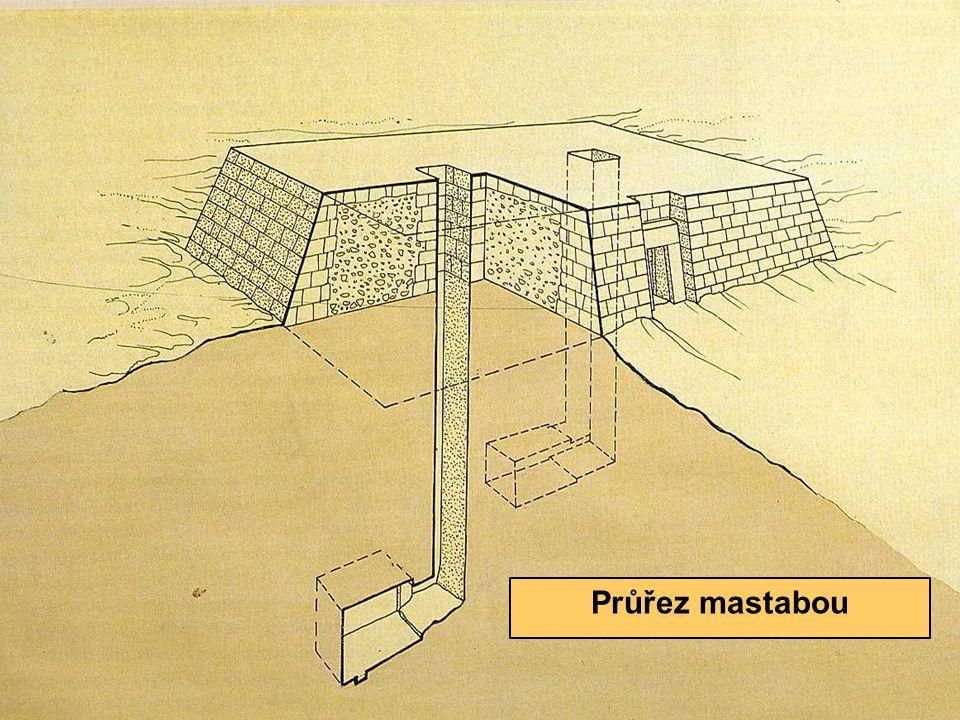 Mastaba Průřez mastabou