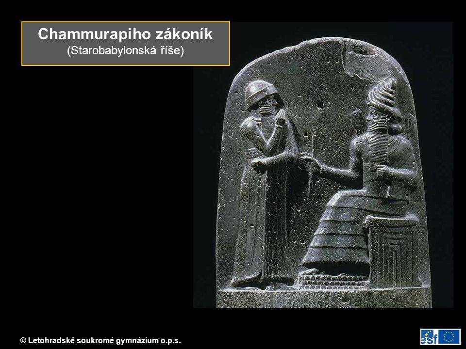 Chammurapiho zákoník (Starobabylonská říše)