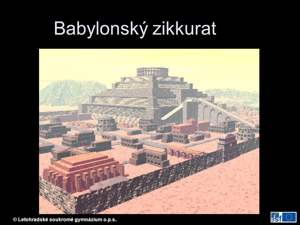 Babylonský zikkurat