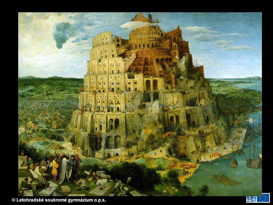 Babylonská věž (představ P. Breughela)