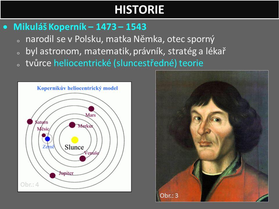 HISTORIE Mikuláš Koperník – 1473 – 1543