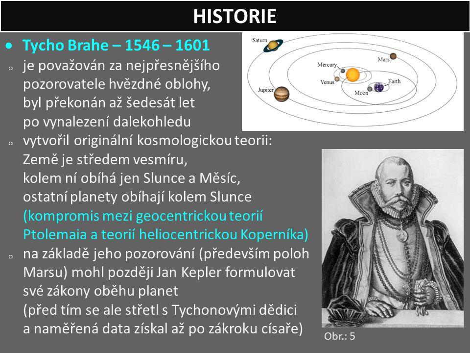 HISTORIE Tycho Brahe – 1546 – 1601