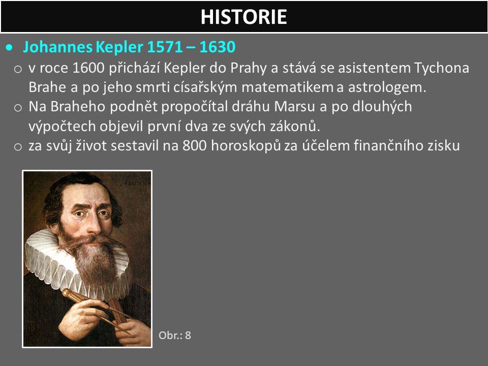 HISTORIE Johannes Kepler 1571 – 1630