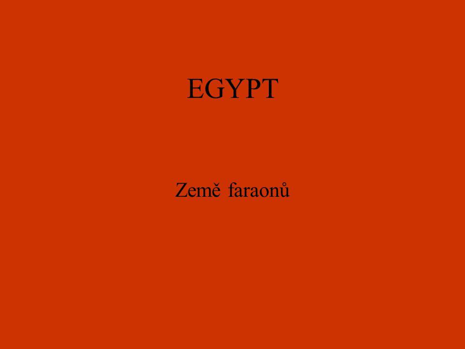EGYPT Země faraonů